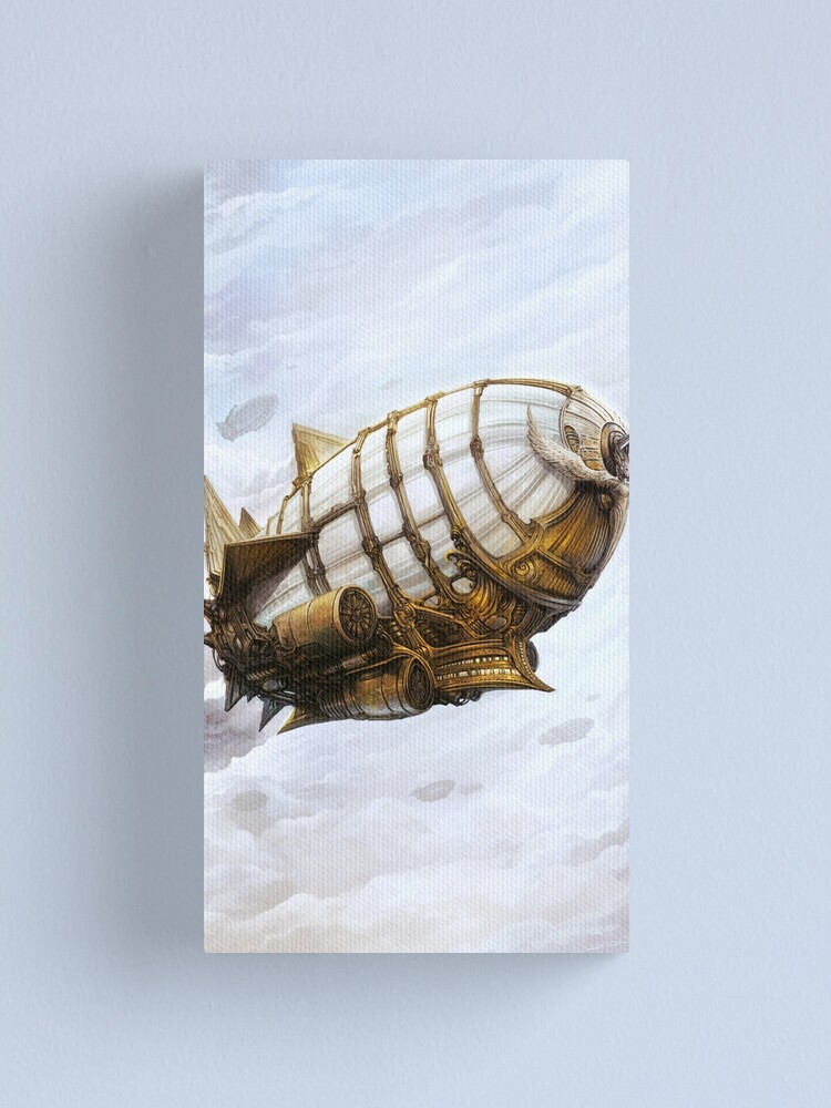Alternate view of Steampunk Airship Canvas Print