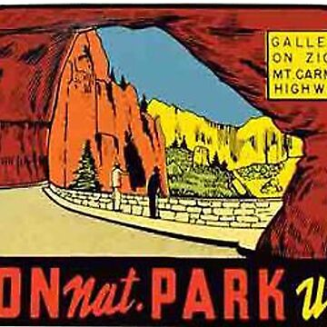 Zion National Park Utah Vintage Travel Decal by MeLikeyTees