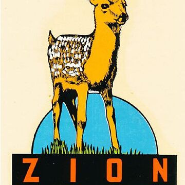 Zion National Park Utah Vintage Retro Travel Decal by MeLikeyTees