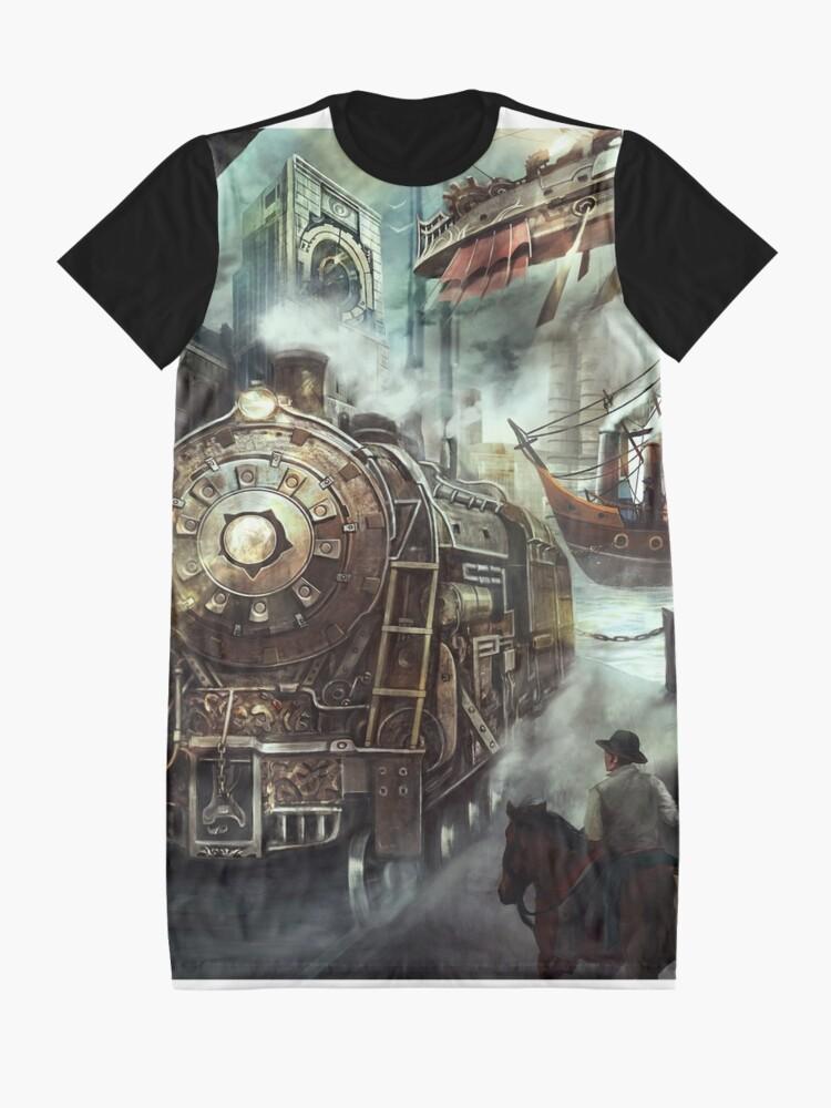 Alternate view of Steampunk World Graphic T-Shirt Dress