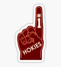 Hokies Foam Finger Sticker