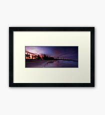 Flaming Pines Framed Print