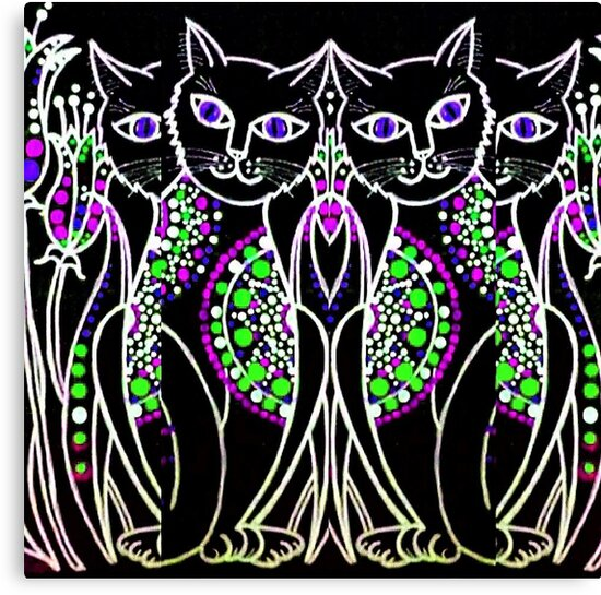 «Gatos Mandala 1» de PaniaBrown
