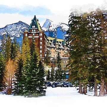 Rocky Mountain Castle - Banff Canada by NaturePrints