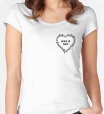 War is Gay Women's Fitted Scoop T-Shirt