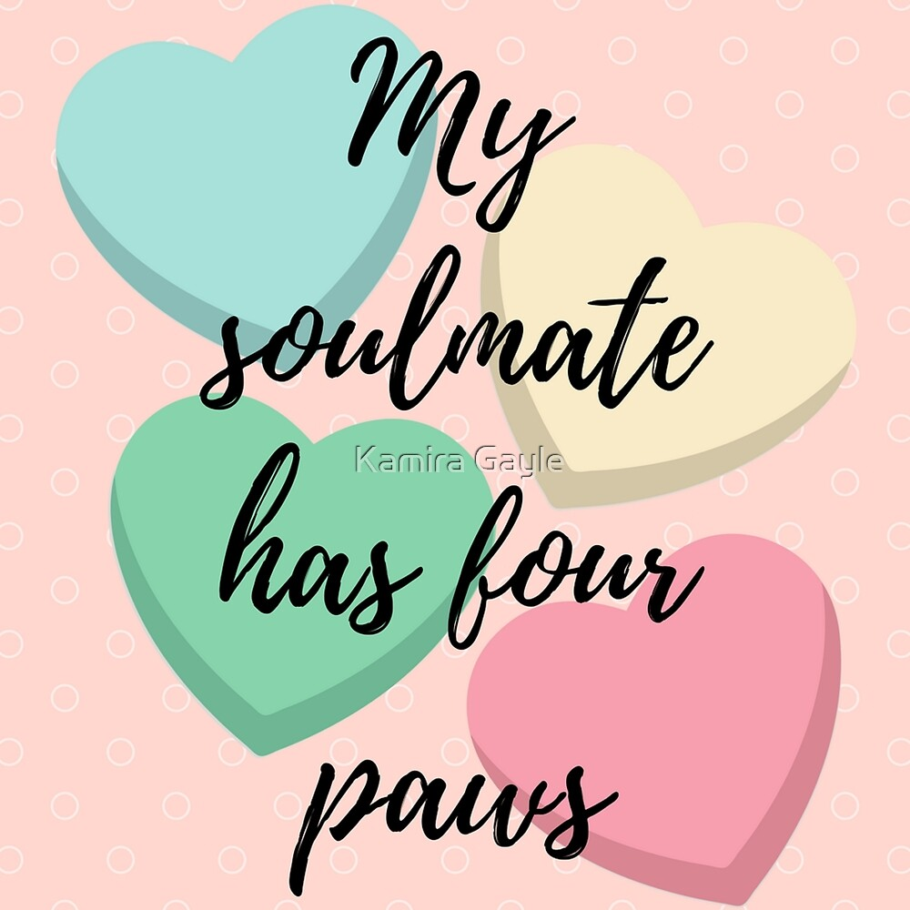 My Soulmate has four paws by Kamira Gayle