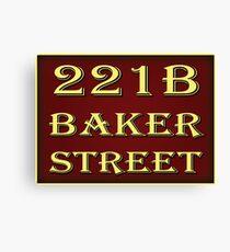 221b Baker Street - Red Canvas Print