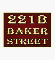 221b Baker Street - Red Photographic Print