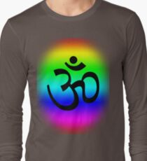 Rainbow Om Long Sleeve T-Shirt