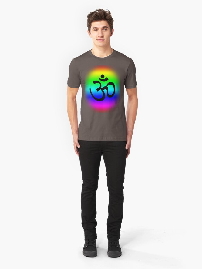 Alternate view of Rainbow Om Slim Fit T-Shirt