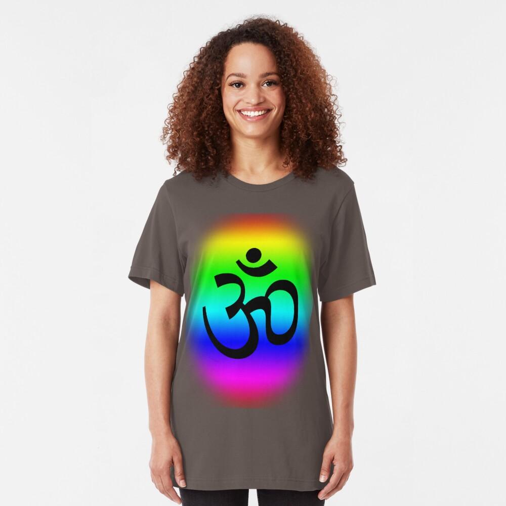 Rainbow Om Slim Fit T-Shirt