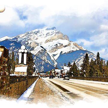Cascade Mountain - Banff  Alberta Canada by NaturePrints