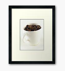 Unprocessed coffee Framed Print