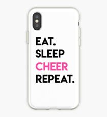 eat. sleep. cheer. Repeat! Cheerleader iPhone Case