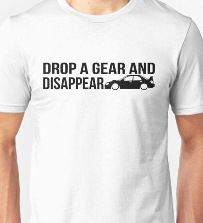 """Drop a gear and disappear"" - Subaru WRX STI Unisex T-Shirt"