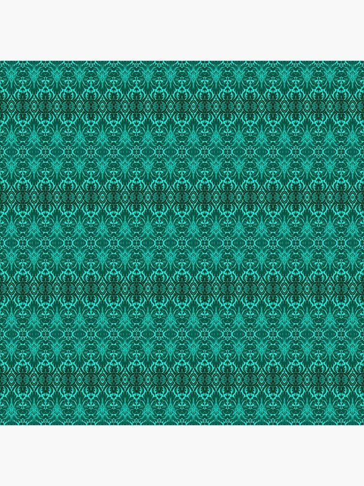 Unendlich wiederholtes Damast-Tapeten-Muster von ThomMorris
