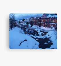 Flowing Stream in Freezing Breckenridge Canvas Print