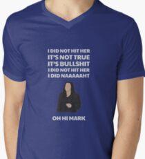 Camiseta para hombre de cuello en v La habitación no la golpeé oh oh marca