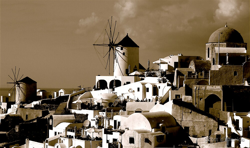 BLACK AND WHITE GREECE by Scott  d'Almeida