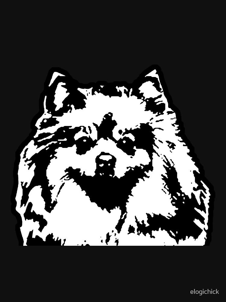 Pomeranian Dog Breed Black White Pop Art Classic T Shirt By