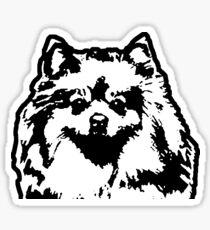 Pommersche Hunderasse Black & White Pop Art Sticker