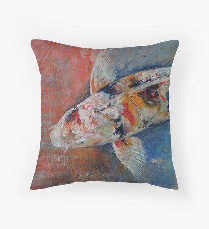 Japanese Koi Throw Pillow