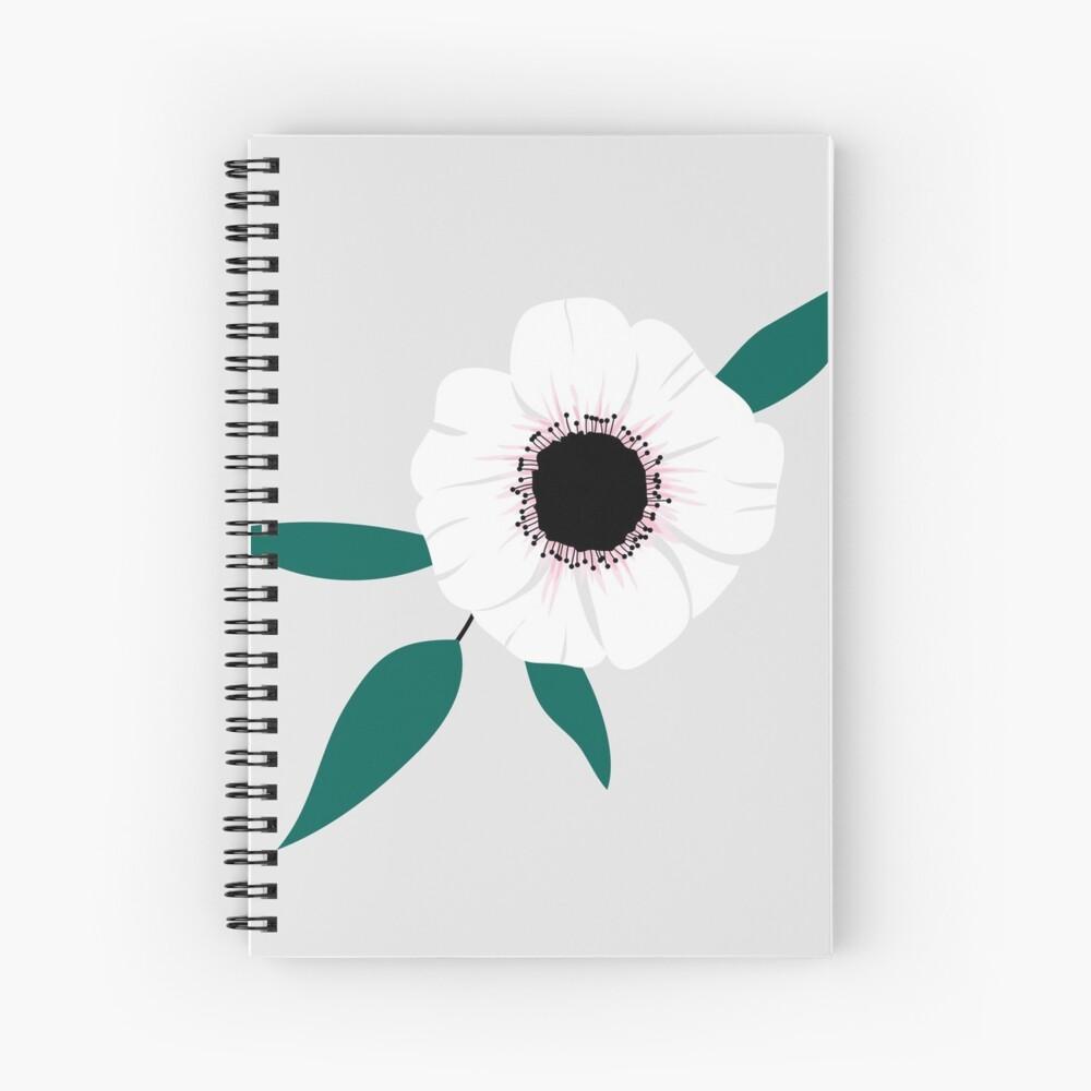 Anemone Spiral Notebook