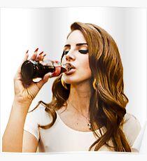 Lana del Rey Coke Poster