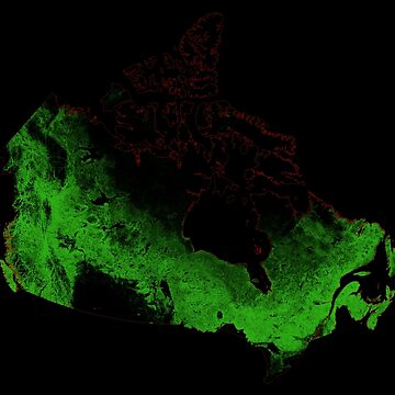 Forest cover map of Canada by GrasshopperGeo