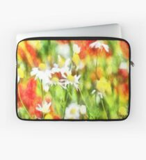The Colors Of Spring On A Sunny Day Watercolor Laptop Sleeve