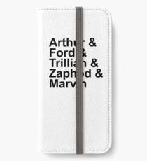 Arthur & Ford & Trillian & Zaphod & Marvin iPhone Wallet/Case/Skin