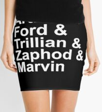 Arthur & Ford & Trillian & Zaphod & Marvin Mini Skirt