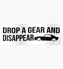 """""""Drop a gear and disappear"""" - Chevrolet Camaro Poster"""