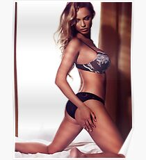 Glamour portrait of woman with blond hair wearing lingerie art photo print Poster