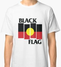 Black Flag Aboriginal Flag Design Classic T-Shirt