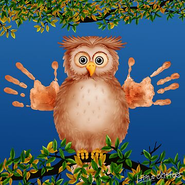 Peek-a-Boo Owl Critter by CarolH
