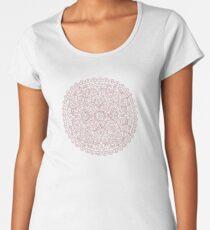 Rose gold marble mandala Premium Scoop T-Shirt