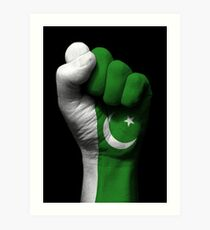 Flag of Pakistan on a Raised Clenched Fist  Art Print