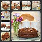 Chocolate Cake Collage by AnnDixon