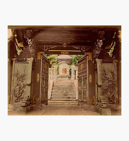Bronze gate, Shoguns Tomb, Shiba, Tokyo Photographic Print