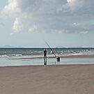 Beach Fishing in Wales by AnnDixon