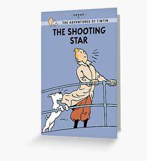 Tintin Shooting Star  Greeting Card