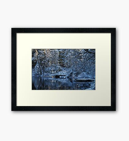 Winter Lake Reflections Framed Print