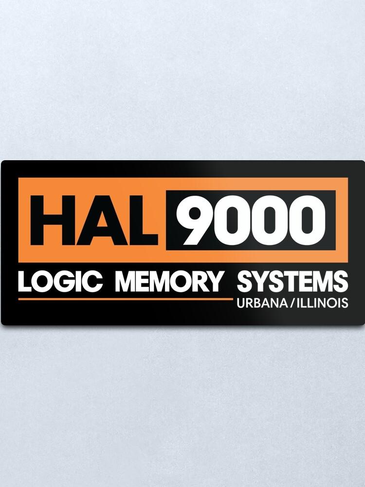 Alternative Ansicht von HAL 9000 - 2001 Eine Weltraum Odyssee Metallbild
