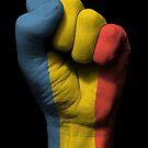 Flagge von Rumänien auf einer angehobenen geballten Faust von jeff bartels
