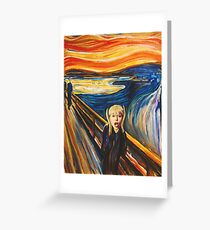 The Scream by Miley Cyrus Greeting Card