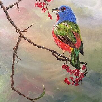 Painted Bunting II by ArtbyDedeConrad