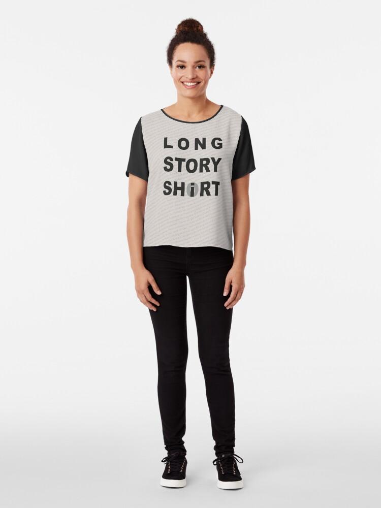 Alternate view of Long Story Short / Shirt Chiffon Top