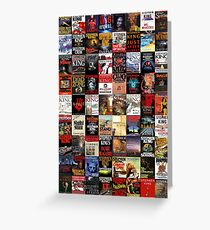 Stephen King Novels Greeting Card