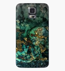 Gold Indigo Malachite Marble Case/Skin for Samsung Galaxy